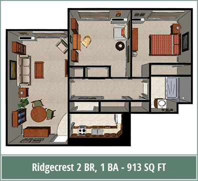 Floor plans of senior living apartments at Ridgecrest